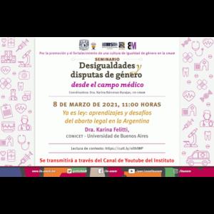 Ya es ley: aprendizajes y desafíos del aborto legal en la Argentina @ Transmisión por Youtube