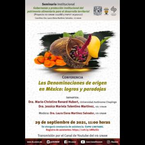 Las denominaciones de origen en México: logros y paradojas @ Transmisión por Youtube