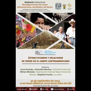 Extractivismos y relaciones de poder en el campo centroamericano @ Transmisión por Youtube