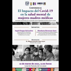 El impacto del Covid-19 en la salud mental de mujeres-madres-médicas @ Transmisión por Youtube