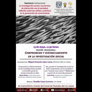 Compromiso y distanciamiento en la investigación social @ Transmisión por Youtube