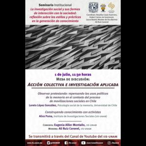 Acción colectiva e investigación aplicada @ Transmisión por Youtube