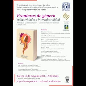 """Presentación del libro """"Fronteras de género, subjetividades e interculturalidad"""" @ Transmisión por el Canal 2 de Youtube"""