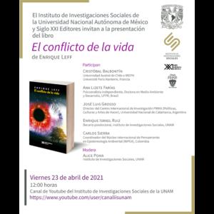 """Presentación del libro """"El conflicto de la vida"""" @ Transmisión por Youtube"""