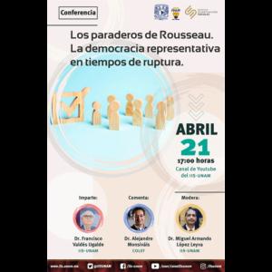 Los paraderos de Rosseau. La democracia representativa en tiempos de ruptura @ Transmisión por Youtube