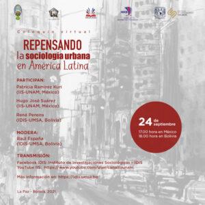 Repensando la sociología urbana en América Latina @ Transmisión por Youtube