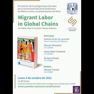 """Presentación del libro """"Migrant Labor in Global Chains"""" @ Transmisión por Youtube"""
